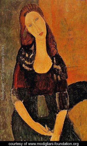 Portrait-Of-Jeanne-Hebuterne---Common-Law-Wife-Of-Amedeo-Modigliani-1920